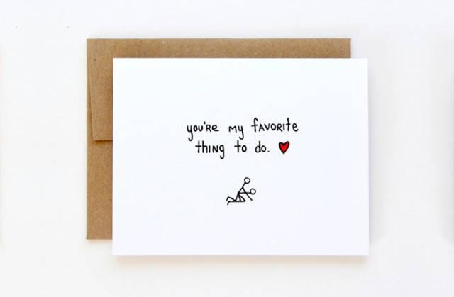 tarjetas san valentin divertidas cosa favorita