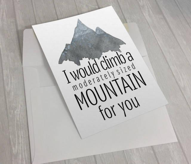 tarjetas san valentin divertidas montaña