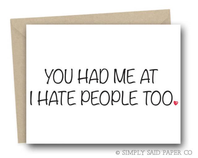 tarjetas san valentin divertidas odio a la gente