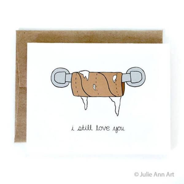 tarjetas san valentin divertidas papel higienico