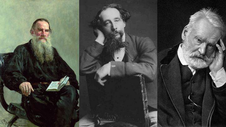 Charles Dickens Victor Hugo y Tolstoi