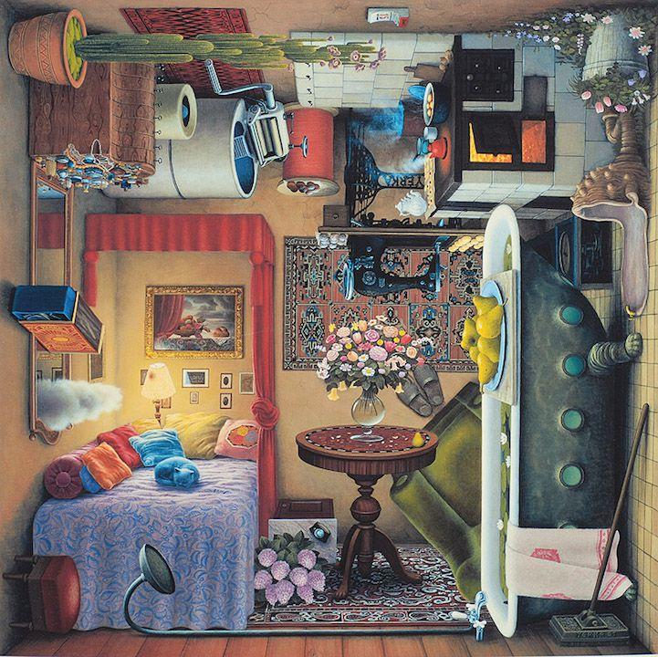 Jacek Yerka pintura surrealista (2)
