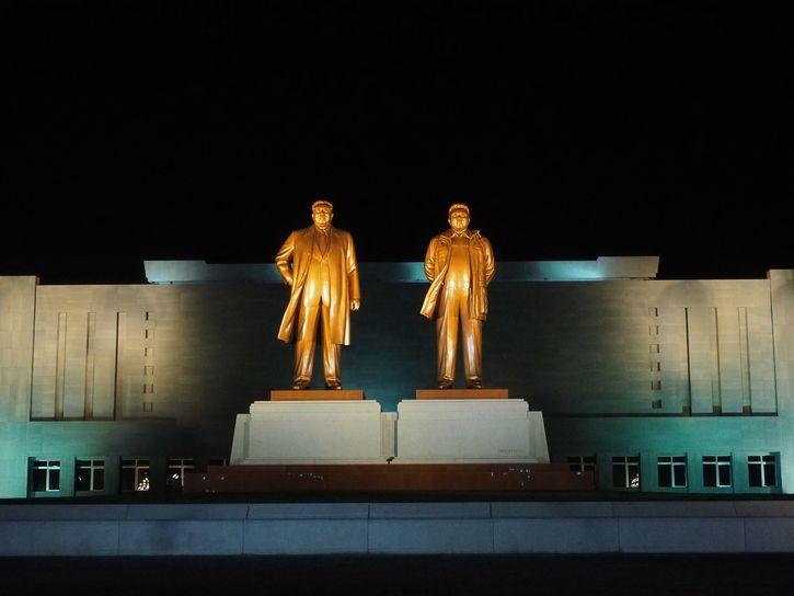 Kim Il Sung y Kim Jong Il