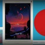 """Posters """"turísticos"""" de la NASA para TRAPPIST-1"""