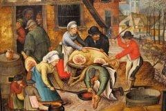 edad media cocinando cerdo
