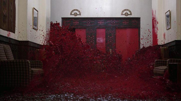 el resplandos sangre de las paredes