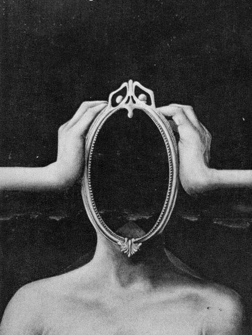 espejo en la cabeza creepy