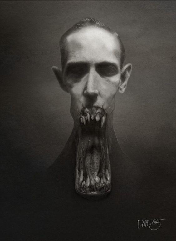 hombre boca descomunal terror