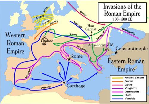 la invasion del imperio romano
