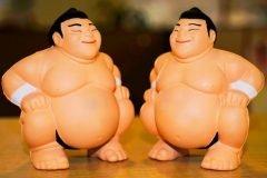 munecos peleadores de sumo figuras accion