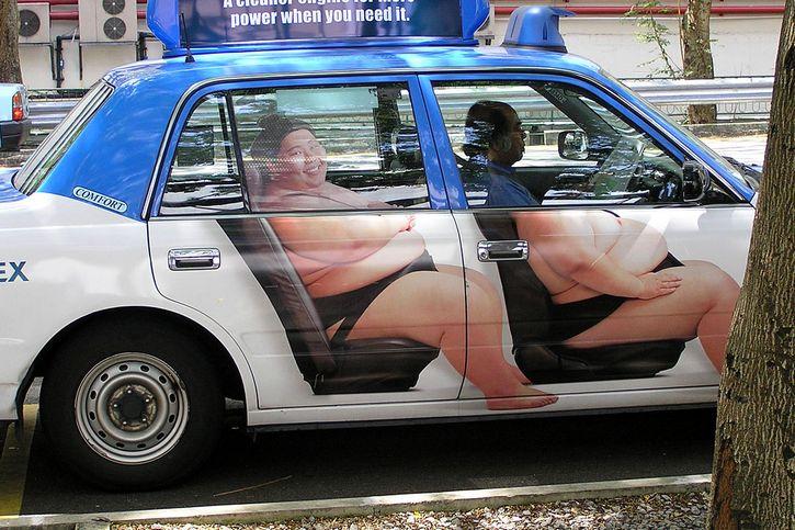 peleador de sumo figura taxi
