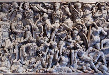romanos y godos escultura