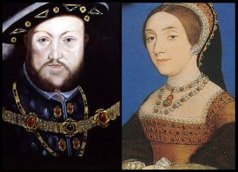 Catalina Howard y Enrique VIII
