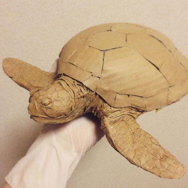 Monomi Ohno esculturas de cartón (12)