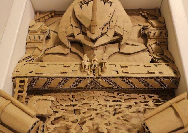 Monomi Ohno esculturas de cartón (18)