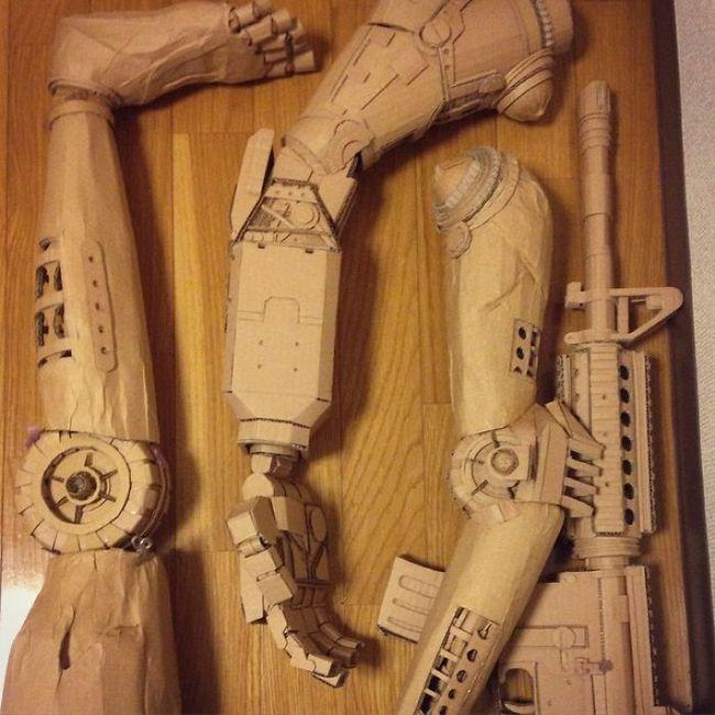 Monomi Ohno esculturas de cartón (20)