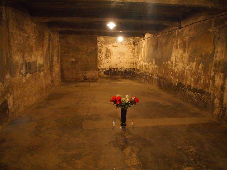 camara de gas en Auschwitz