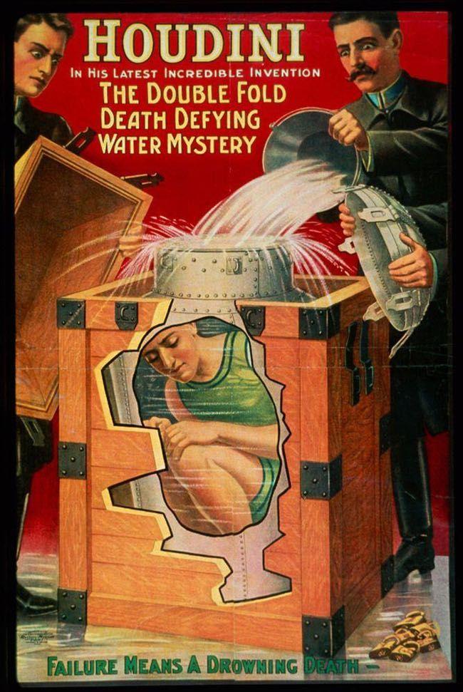 houdini cartel contenedor de leche truco