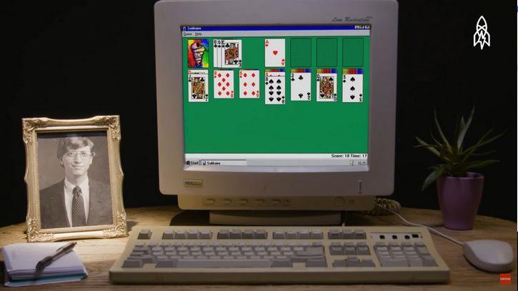 juego solitario bill gates retrato escritorio