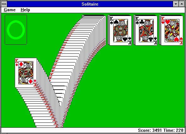 juegos solitario microsoft 30 captura de pantalla