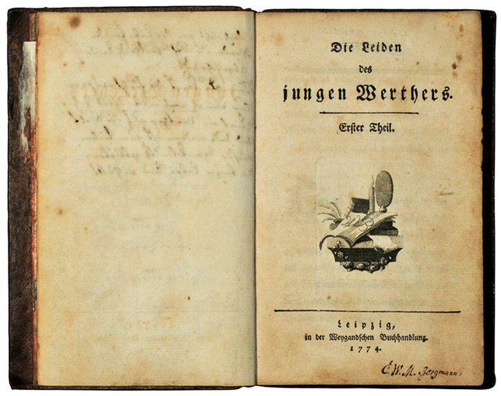 las penas del joven werther primera edicion