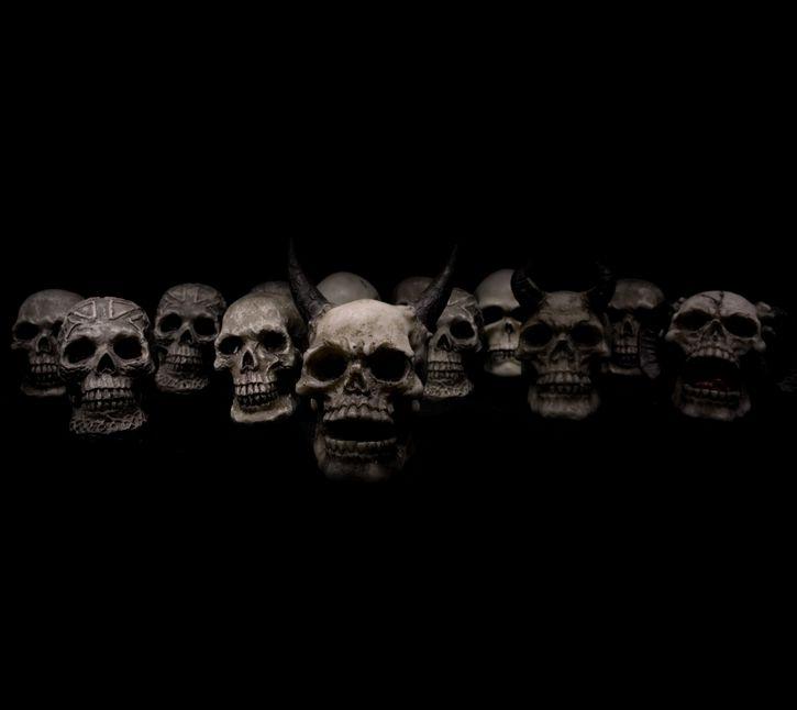 los craneos en la oscuridad
