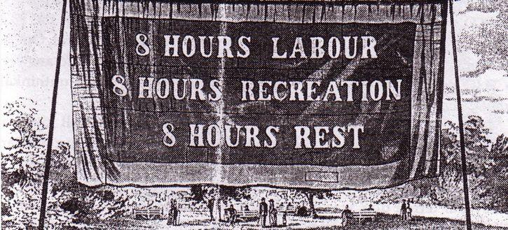 pancarta 8 horas de trabajo