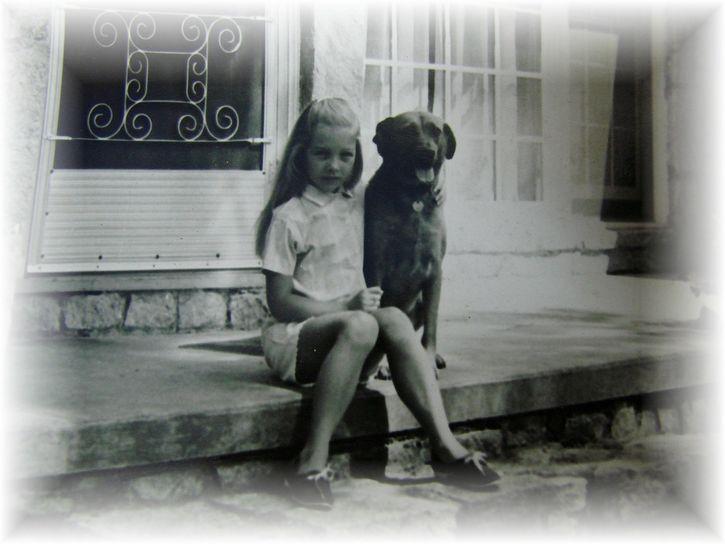 recuerdos niña con su perro