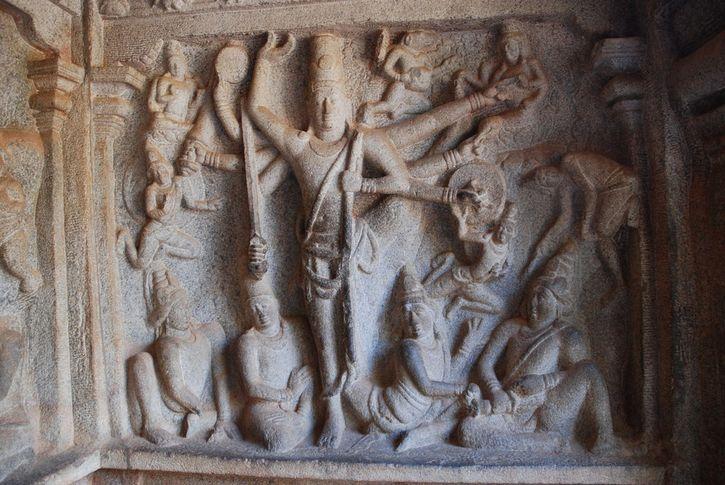 ruinas en Mahabalipuram
