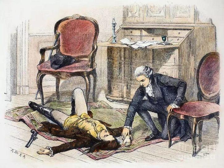 suicidio de Werther ilustracion