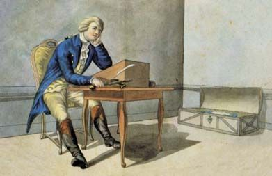 werther escribiendo carta
