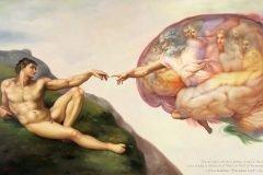 dios y el hombre pintura