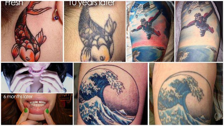 evolucion tatuajes paso del tiempo