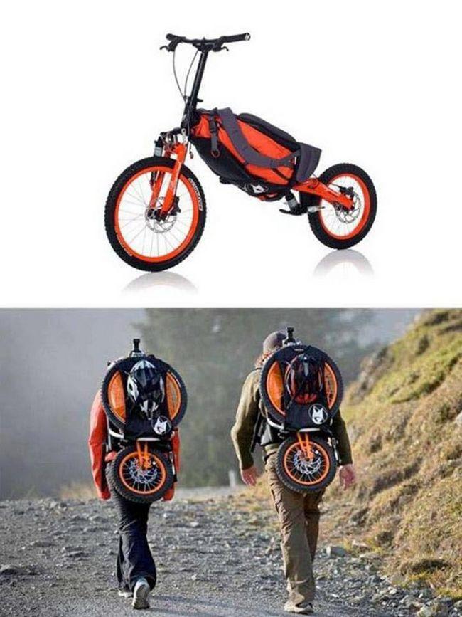 inventos increibles bicicleta mochila