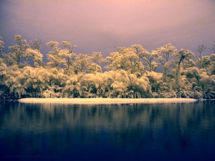 isla fantasma paisaje