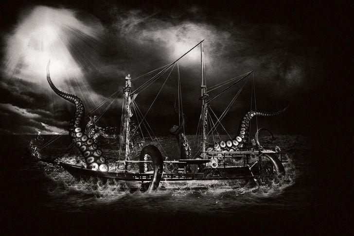 kraken atacando embarcacion