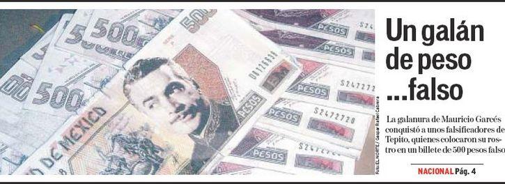 mauricio garces billete de 500 falso
