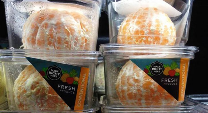 naranjas empaquetadas sin cascara