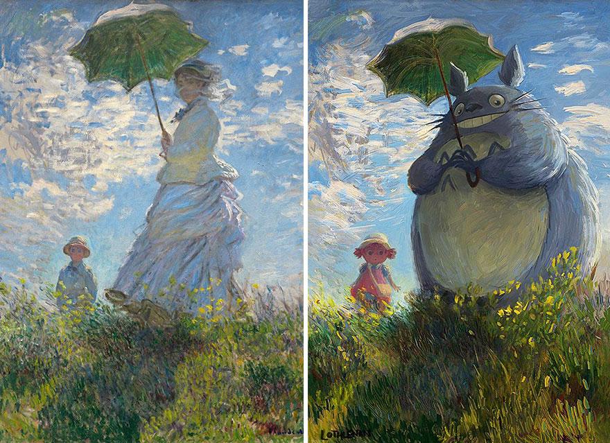pinturas clasicas con personajes cultura pop (2)