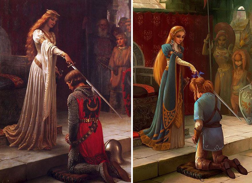 pinturas clasicas con personajes cultura pop (4)