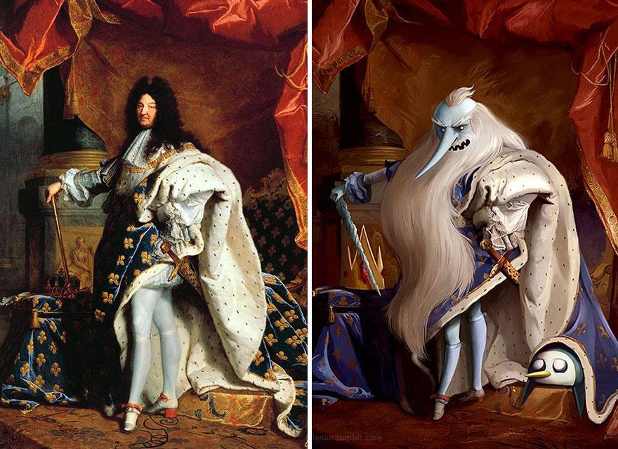 pinturas clasicas con personajes cultura pop (6)