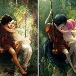 Pinturas clásicas con personajes de la cultura pop