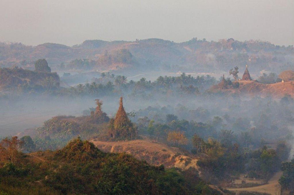 ruinas de Mrauk U en Birmania (2)