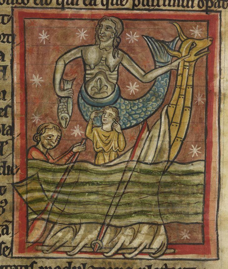 sirena ilustraciones medieval
