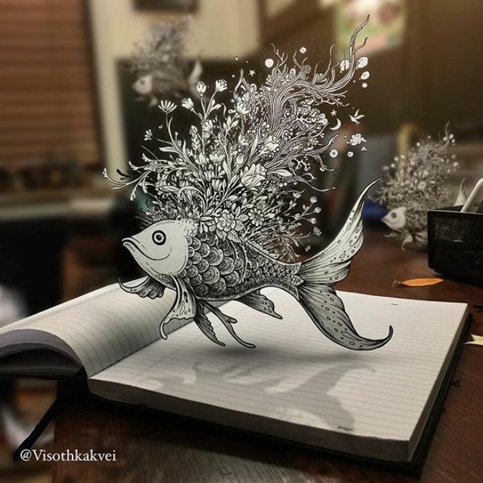 Visoth Kakvei dibujos 3D (12)