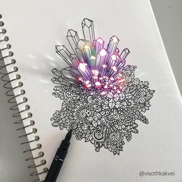 Visoth Kakvei dibujos 3D (8)
