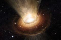 agujero negro supermasivo devorando una estrella