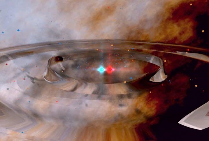colision de dos agujeros negros