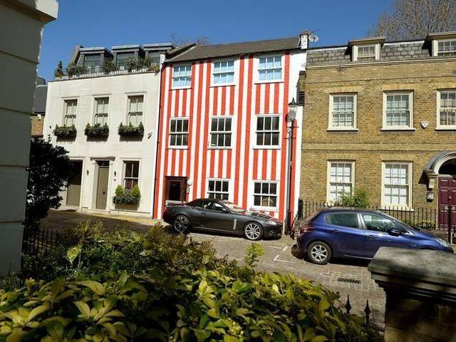 edificio rayas rojas y blancas en londres