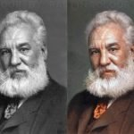 Alexander Graham Bell fotografia a color